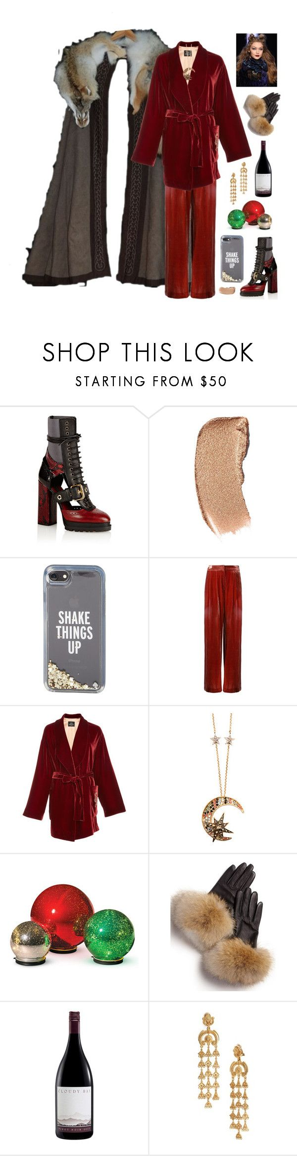 """Без названия #1234"" by marusa666 ❤ liked on Polyvore featuring Burberry, Kate Spade, Pat McGrath, Bianca Spender, Alena Akhmadullina, Roberto Cavalli, Improvements, FRR and Oscar de la Renta"