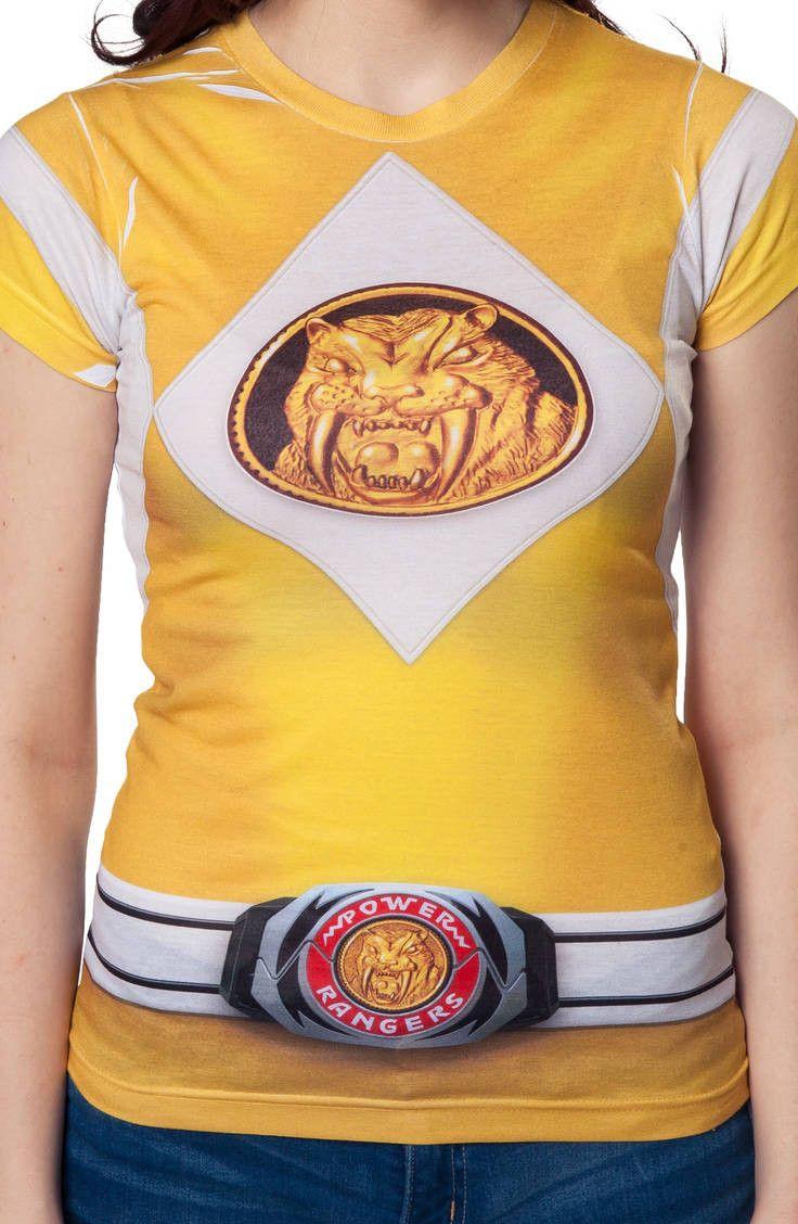 d767a6e6cab Power Rangers Ladies Yellow Ranger Sublimation Costume T-Shirt