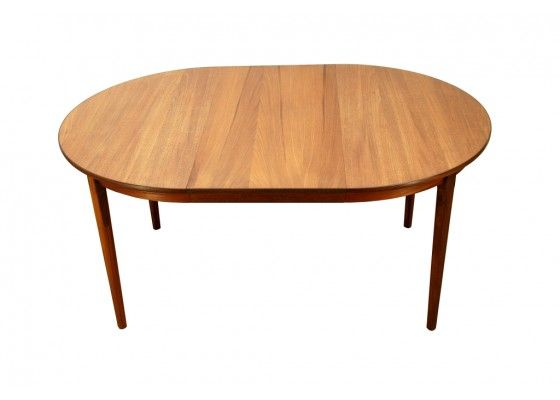 Vintage Danish Round Extendable Dining Table Pamono