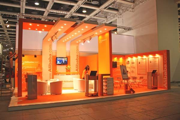 Kubik Exhibition Stand View : Booth rental designed for technology trade show