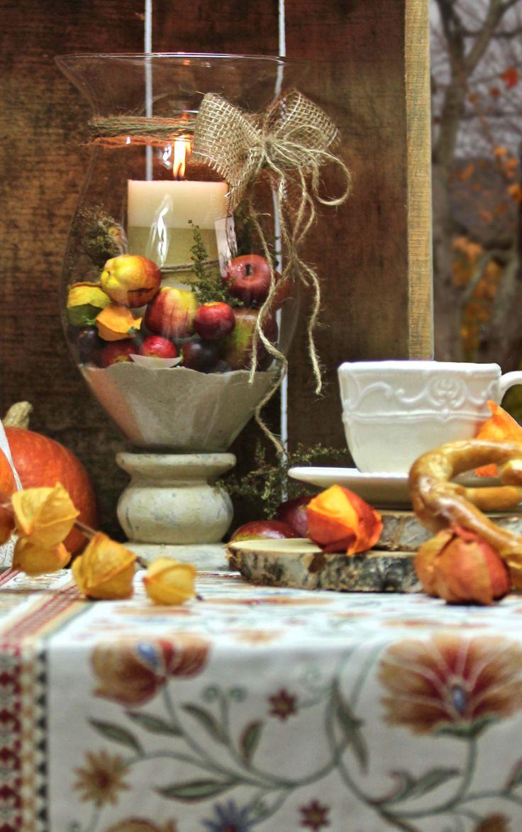 Herbstdeko Tischläufer: Sander