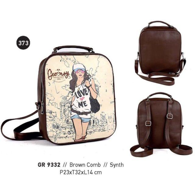 Tas Wanita/Hand Bag Wanita/Tas Ransel wanita/Tas Gendong Wanita/TaS Model Terbaru Murah Branded Kuat Cantik 085697680786 GeeArsy GRS 9332