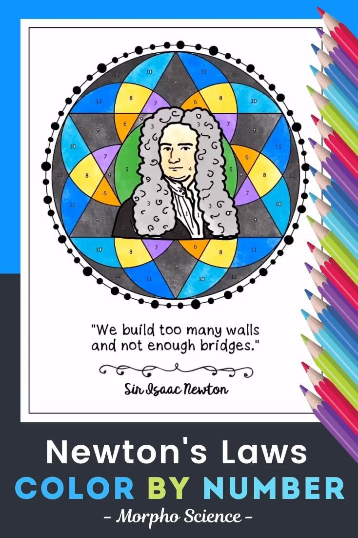 Newton S Laws Of Motion Color By Number Science Color By Number Video Video Newtons Laws Newtons Laws Of Motion Science