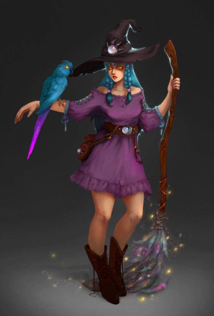 Witch (1), Anna Nikitina on ArtStation at https://www.artstation.com/artwork/oRz3k