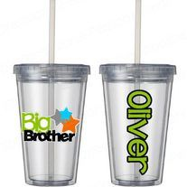 BIg Brother cup!  120z- kid size tumbler Cute sibling gift  www.mboston9.storenvy.com