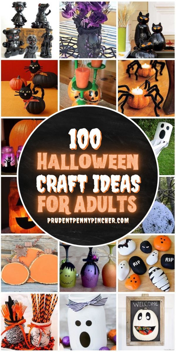 Halloween Craft Ideas 2020 100 Best Halloween Crafts for Adults in 2020   Halloween crafts