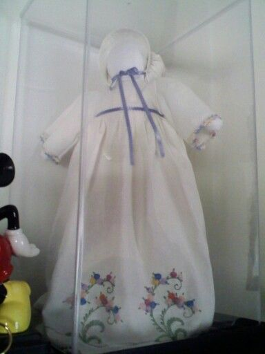 Doll I made out of pillowcase my Grandma embroidered ...