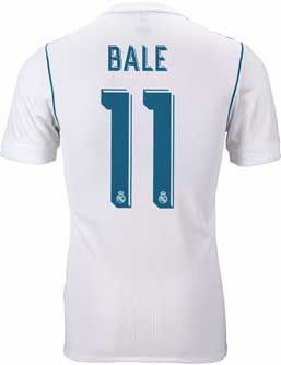 2017/18 adidas Real Madrid Gareth Bale Authentic Home Jersey. Buy it from www.soccerpro.com