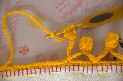 Pompom em Crochê para acabamentos - Coisas da Léia