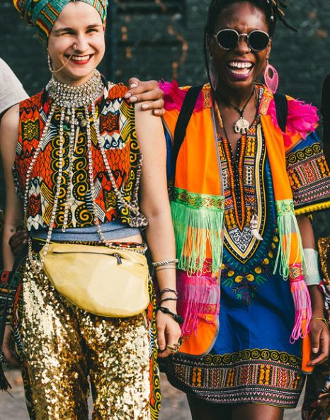 Afropunk festival fashion: color, glitter, prints