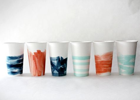 Painted party cups