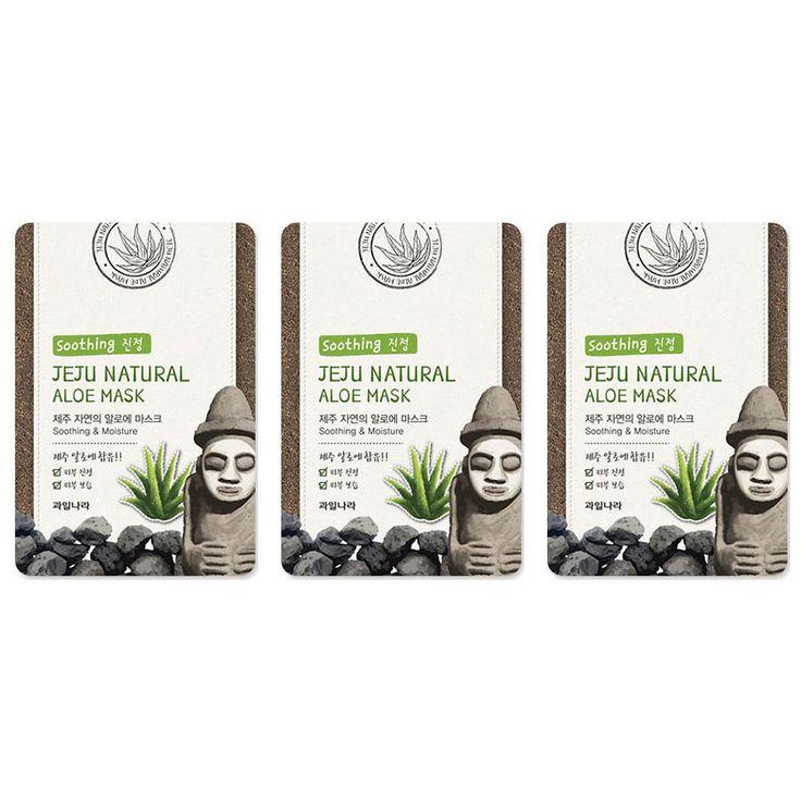 3 Pcs WELCOS KWAILNARA Jeju Natural Mask / Korea Cosmetic #WELCOSKWAILNARA #maskpack #facemask #facialmask
