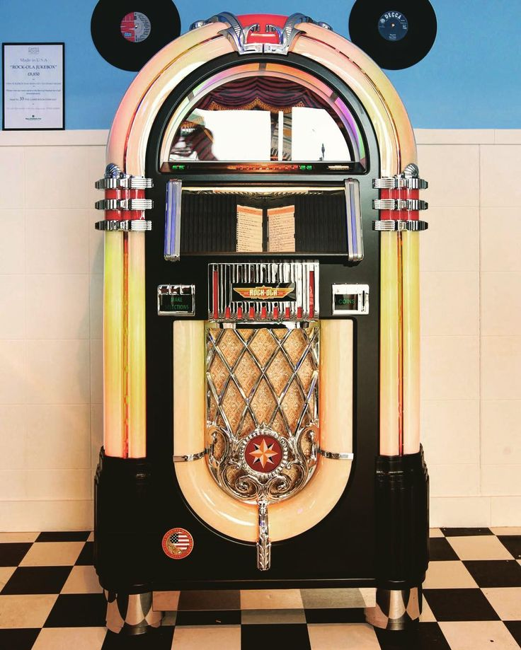 We are at #Goodwood this weekend and here is a shot of one of our jukeboxes. A Rockola CD Bubbler looking lovely at #goodwoodrevival.