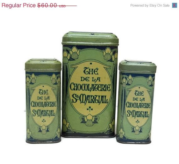These Gorgeous French Art Nouveau Tin Containers Would Both Add Extra  Storage To My Tiny Kitchen, And Add Some Gorgeous Vintage French Kitchen  Style. By ...