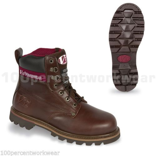 V12-Safety-Footwear-V1236-BOULDER-Mens-Work-Boots-Leather-Steel-Toe-Cap-UK-Size