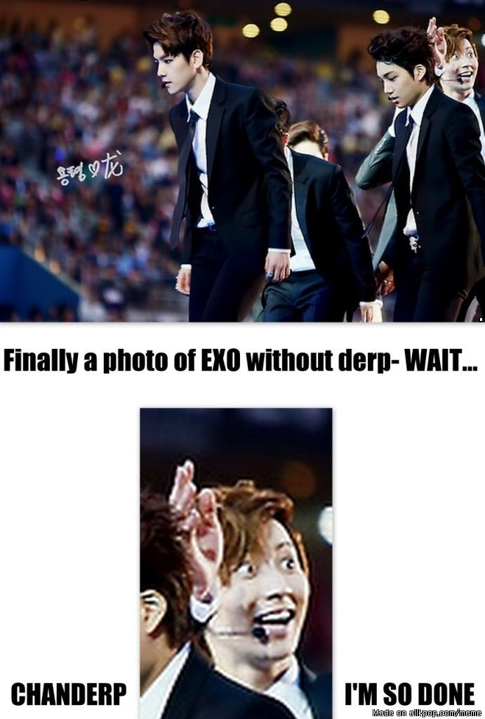 The EXO derp squad never fails XD It was such a hot photo, and now its a derp photo XD