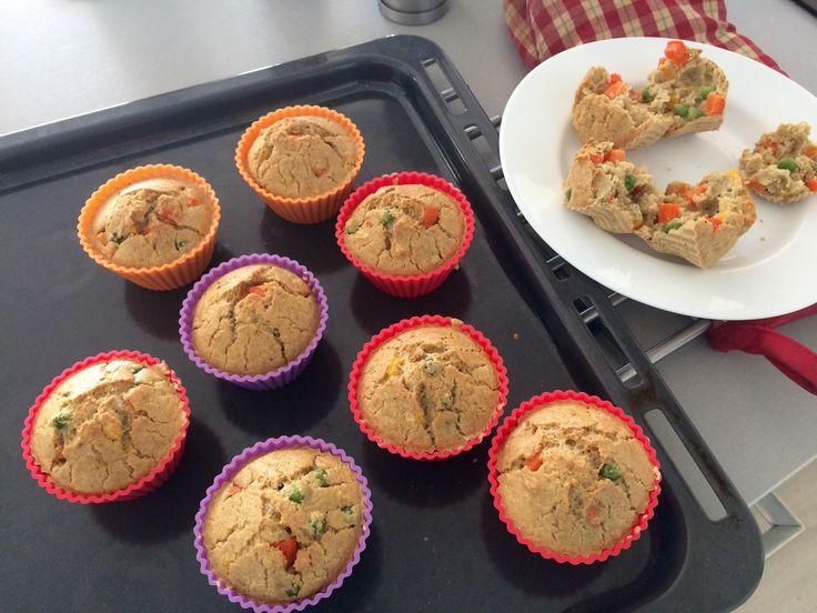 Zeleninové muffiny z vajec a ovesné mouky