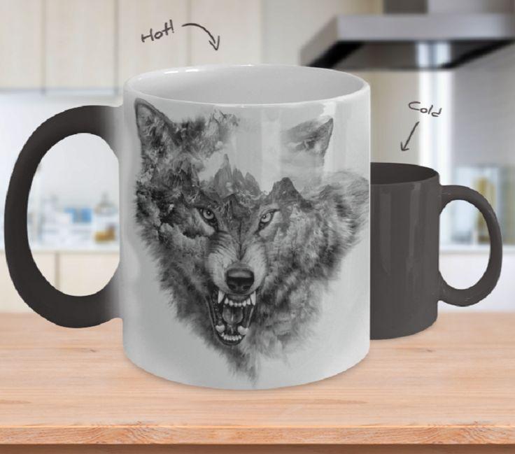 Mountain Wolf Color Changing Coffee Mug