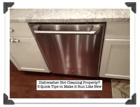 5 tips for fixing a dishwasher that is not cleaning properly