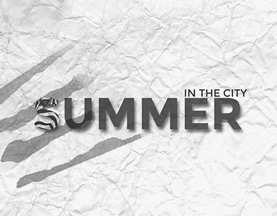 "Check out new work on my @Behance portfolio: ""Summer in the city set of…"