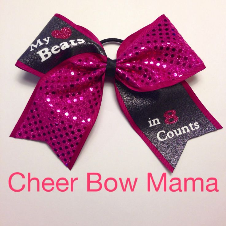 My+3+Beats+in+8+Counts...+Sparkle+Cheer+Bow+by+CheerBowMama,+$15.00