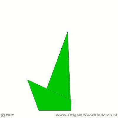 Origami instructies stap 5