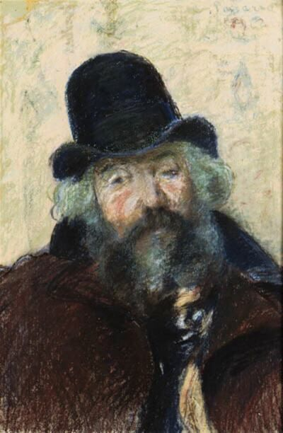 Ludovic Piette (11 mai 1826 - 14 avril 1878) painted by Camille Pissarro.
