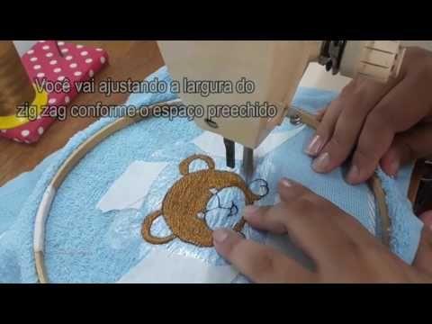 Bordando nome com máquina de costura doméstica # Costuras e bordados com Elisa Crochê - YouTube