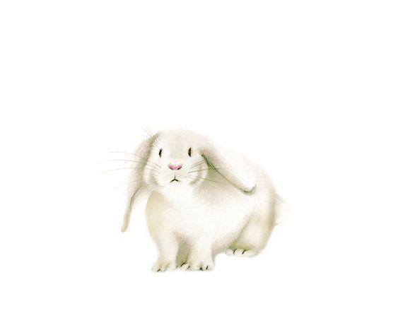 Un lapin Bunny pépinière Art bébé Animal lapin par studioQgallery