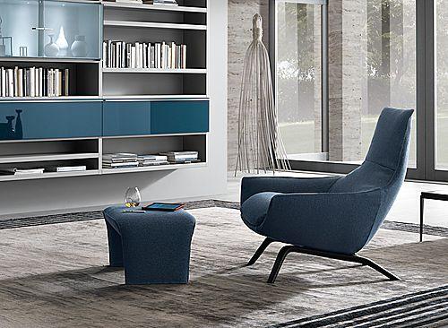 Ermes, MisuraEmme Contemporary Armchair With Footstool   ArchiExpo 26 April  2013