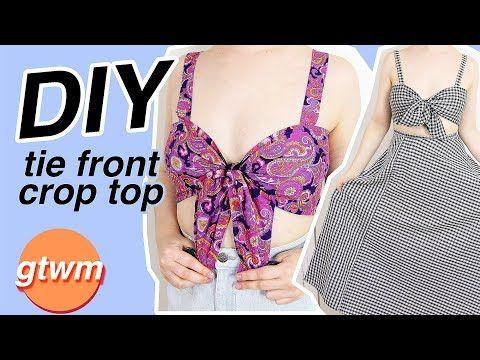 b000eb0bc814 DIY Tie Front Crop Top