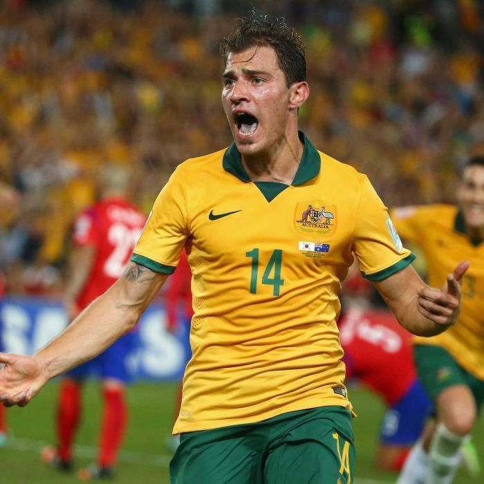Troisi scores in extra time of Asian Cup final - James Troisi of Australia celebrates after scoring a goal during the 2015 Asian Cup final match against South Korea at Stadium Australia on January 31, 2015 in Sydney.