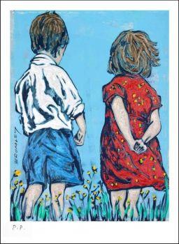 DAVID BROMLEY, Friends, Printers Proof Silkscreen Artist: Bromley, David Artwork title: Friends