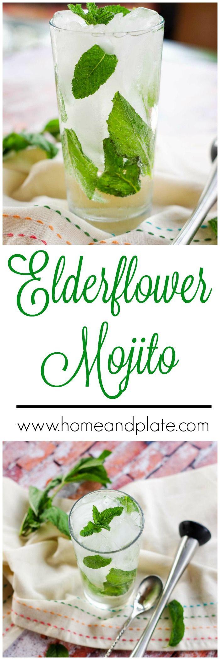 Elderflower Mojito Cocktail   www.homeandplate.com   This refreshing summer cocktail features rum, mint, fresh lime juice and a secret ingredient - St. Germain Elderflower Liqueur.