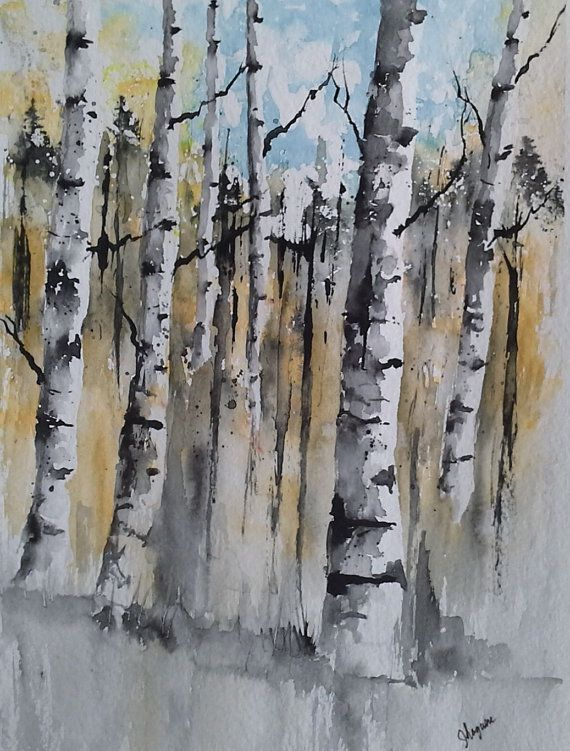 Original Watercolor Painting Maine Landscape by pinetreeart, $58.00