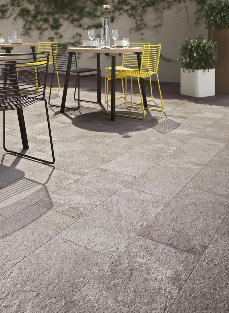 These tiles from the Stoneway Porfido collection are ideal for both modern and traditional patios and interior use.  #patio #tiles #traditional