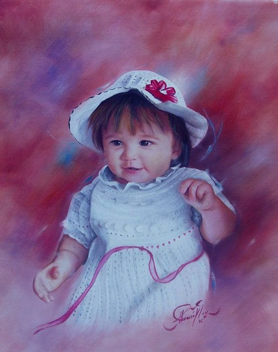 Custom Oil Portrait from your Photo Hand Painted Oil