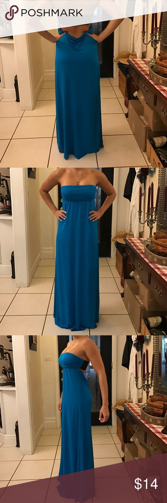 Electric blue maxi dress Strapless electric blue maxi dress. Worn twice. Size small. Bought from Venus. Cute for the beach or just to go out :) Dresses Maxi
