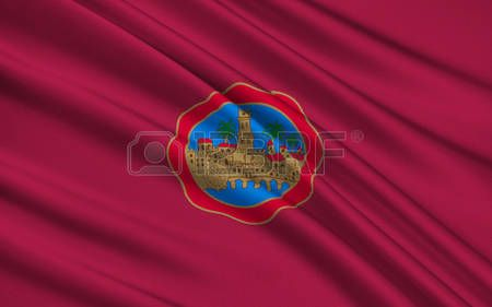 Bandera de Córdoba - una antigua ciudad en Andalucía, capital de la provincia de Córdoba. Situado en la ladera de la espuela Sierra Morena, en la orilla derecha del Guadalquivir