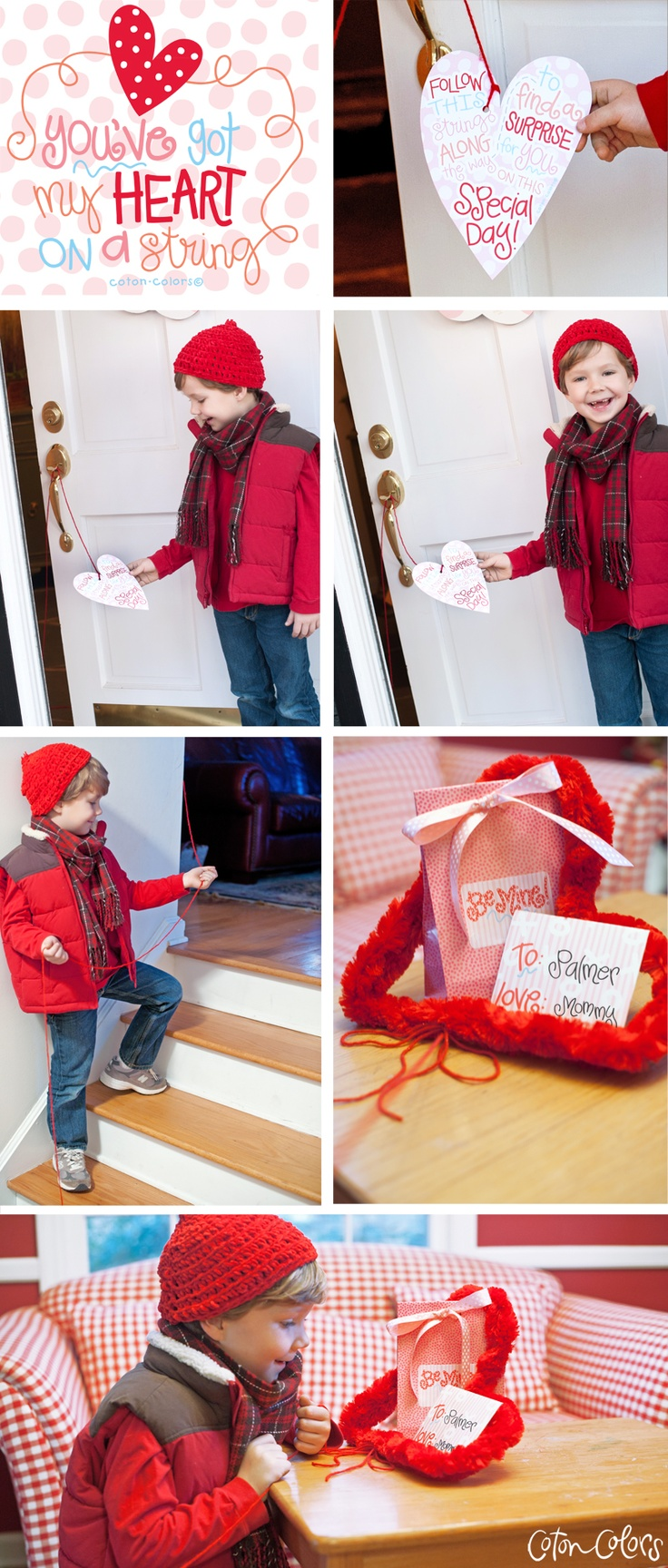 Sweet Valentine Scavenger Hunt for your Kids! Find the free printables on the blog...