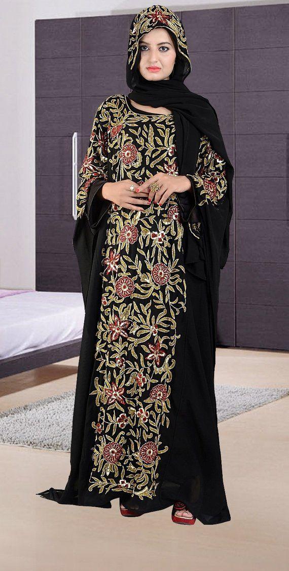 0cbdcd29ad2 Hand Embroided Kaftan Dress New Beautiful Ladies Dubai Kaftan Farasha  Jalabiya Embroidery Abaya/ Luxury kaftan/special for wedding Wear, Elegant  Butterfly ...
