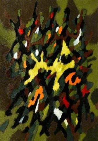 Christmas Tree Abstract, William Gear, 1950