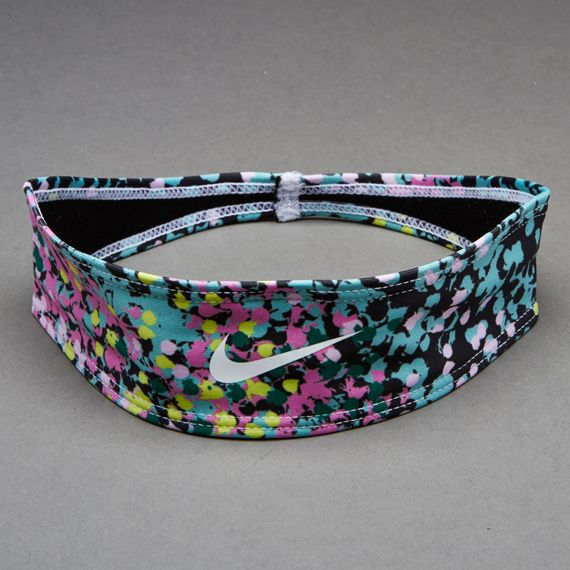 "Nike 2"" Modern Graphic Headband - Nike Accessories - Diffused Jade - Black Pine/White"