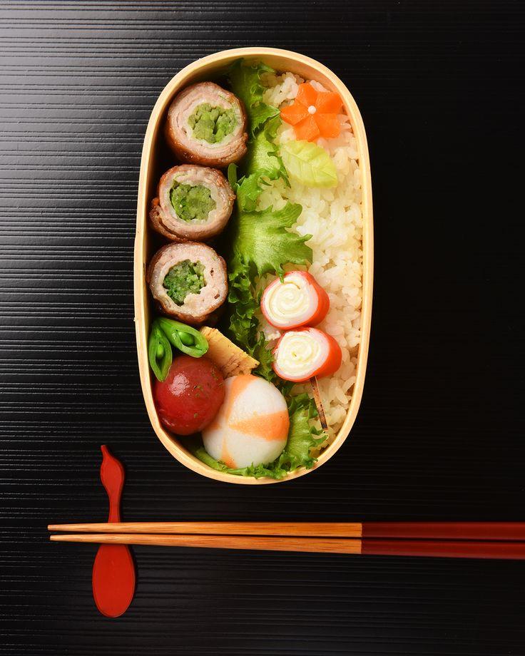水菜の豚バラ巻き弁当 / Pork-Wrapped Mizuna Bento #edit_jp
