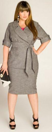 Идеи офисных и повседневных нарядов для полных женщин на весну 2015