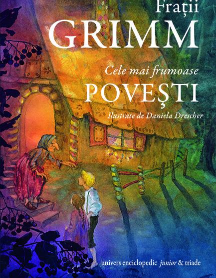 Volumul cuprinde cele mai cunoscute și îndrăgite povești scrise de frații Grimm: Prințul fermecat, Scufița Roșie, Frumoasa adormită, Cenușăreasa, Albă-ca-Zăpada, Hänsel și Gretel, Motanul încălțat și multe altele. Pornești într-o călătorie spre o altă lume unde prințesele au părul de aur, prinții înfruntă orice primejdie, vrăjitoarele aruncă blesteme și farmece, castelele se ridică semețe până la nori, iar pădurile ascund cele mai ciudate făpturi. O lume unde, în ciuda tuturor necazurilor și…
