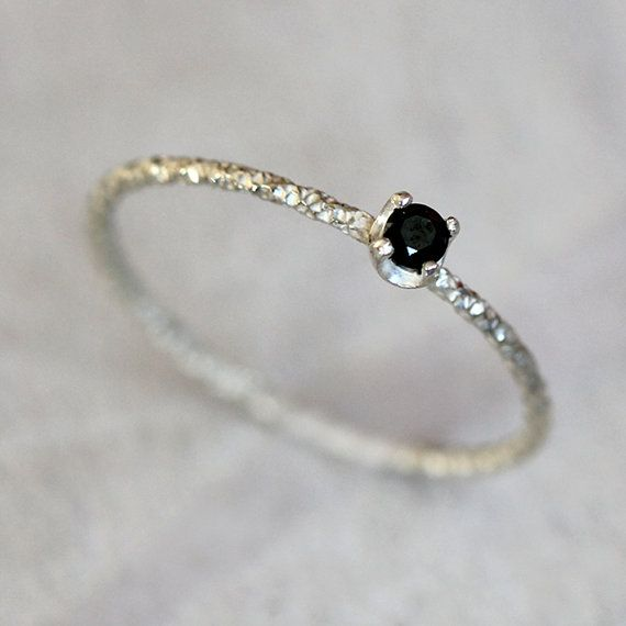 Black diamond ring by PraxisJewelry on Etsy, $58.00 Praxis Jewelry