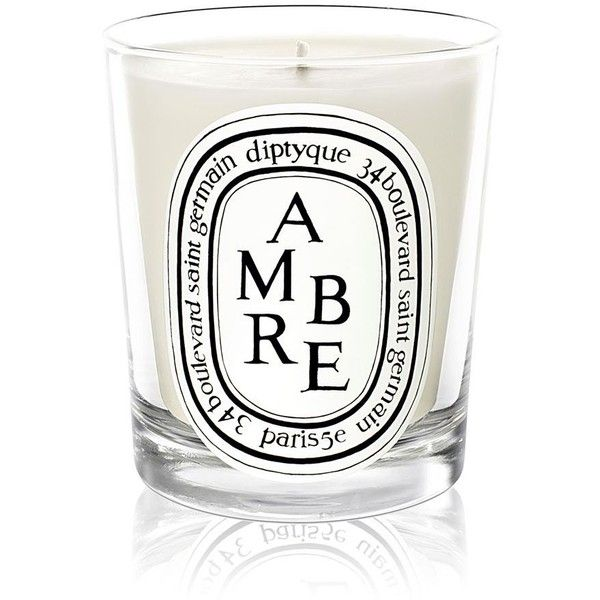Diptyque Ambre Scented Candle (€52) ❤ liked on Polyvore featuring home, home decor, candles & candleholders, fragrance candles, scented candles, diptyque, diptyque candles and asian home decor