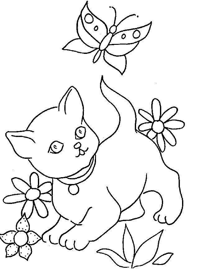 hemos preparado una galería de dibujos para colorear de gatos para ...