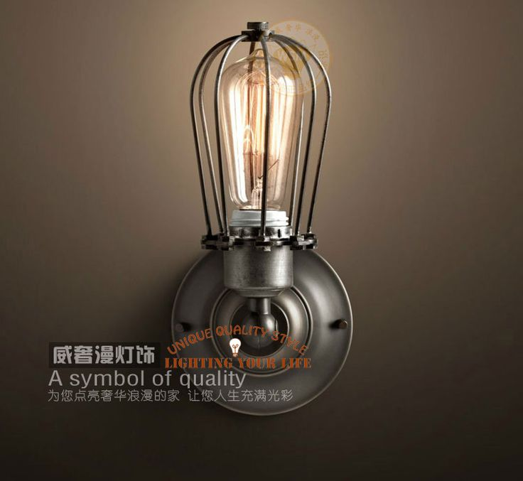 ? handmade Creative cage Wall sconces Vintage rustic country Wall lamps retro iron mounted wall mirror  lamps US $48.20